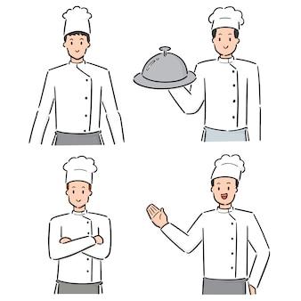 Set van chef-kok