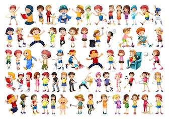 Set van chikdren karakter