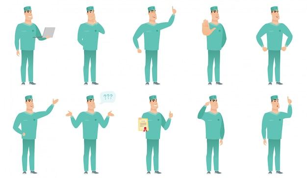 Set van chirurg karakters