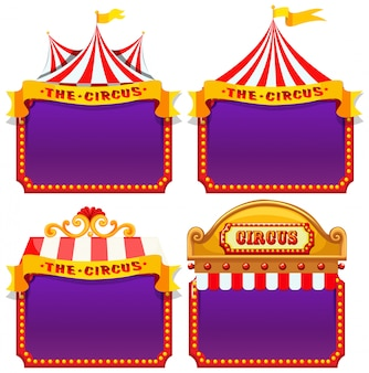 Set van circus banner