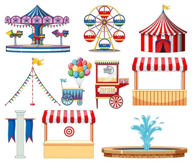 Set van circusitems