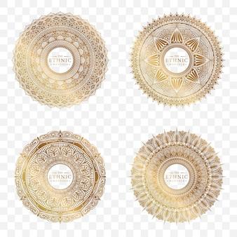 Set van cirkel mandala ontwerp