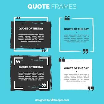 Set van citaat frame
