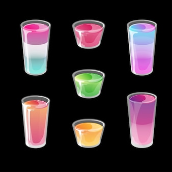Set van cocktail jelly shots.
