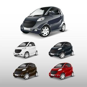 Set van compacte hybride auto vectoren