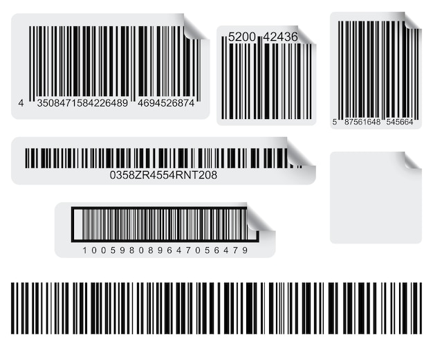 Set van conceptuele barcode labels