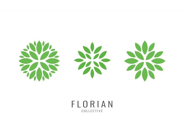 Set van cosmetische natuurlijke logo isnpiration