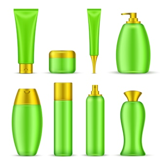 Set van cosmetische verpakkingen