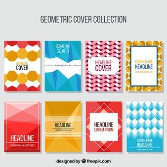 Set van covers met geometrische vormen