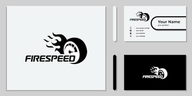 Set van creatief rpm-snelheidslogo-ontwerp