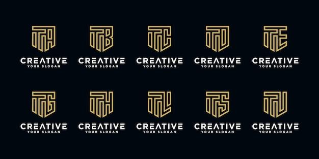 Set van creatieve brieven logo ontwerpsjabloon