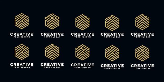 Set van creatieve brieven logo's