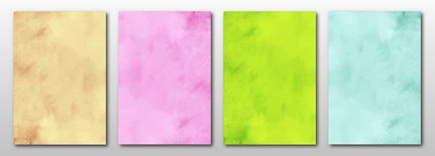 Set van creatieve handgeschilderde abstracte aquarel achtergrond.
