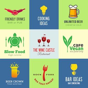 Set van creatieve iconen