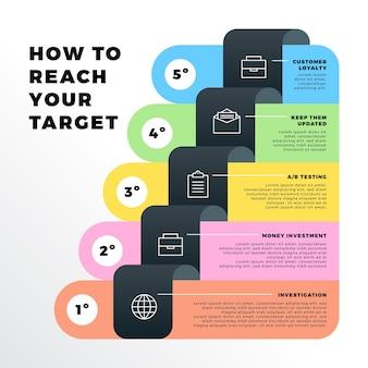 Set van creatieve infographic stappen