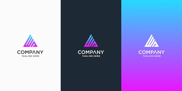 Set van creatieve ka brief vector logo ontwerp sjabloon premium