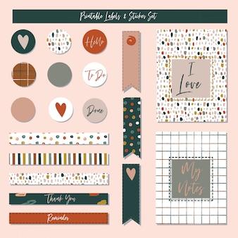 Set van creatieve kaarten