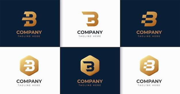 Set van creatieve letter b logo ontwerpsjabloon collectie