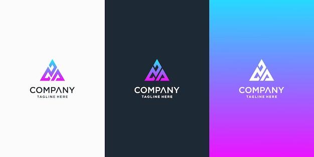 Set van creatieve letter la logo ontwerpsjabloon premium