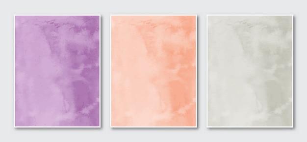 Set van creatieve minimalistische handgeschilderde abstracte aquarel.