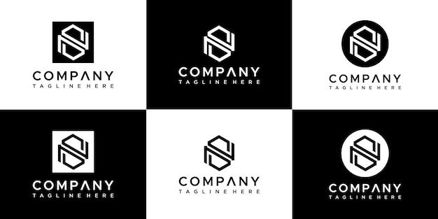 Set van creatieve monogram letter s logo-ontwerp