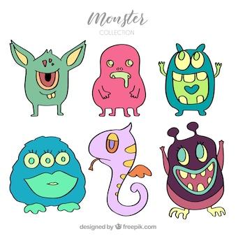Set van creatieve monsters