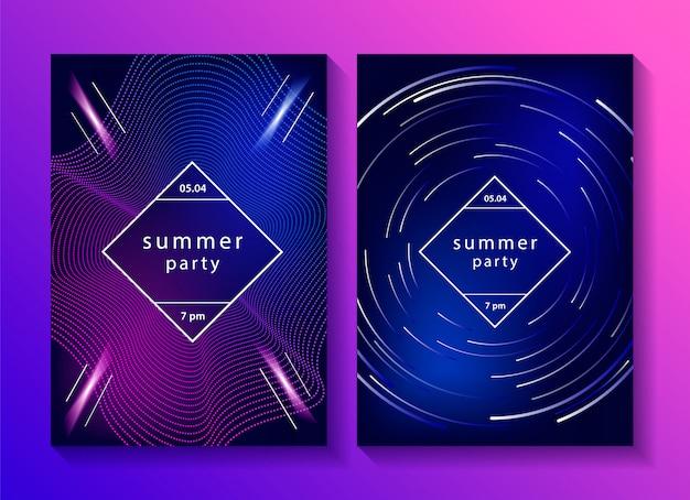Set van creatieve muziek posters.