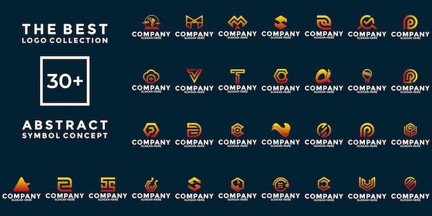 Set van creatieve symbool abstract