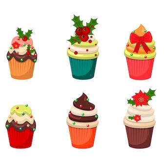 Set van cupcakes en muffins vector.