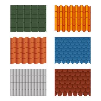 Set van dakpannen