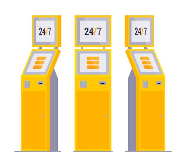 Set van de betaalterminals