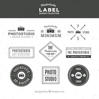 Set van de fotografie labels in vintage stijl