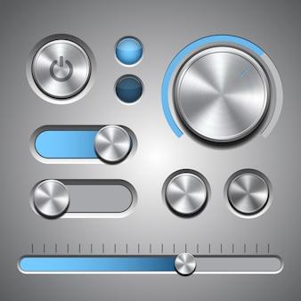 Set van de gedetailleerde gebruikersinterface-elementen