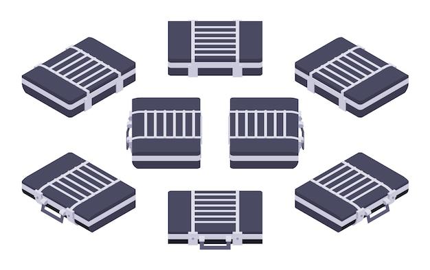 Set van de isometrische gesloten aktetassen