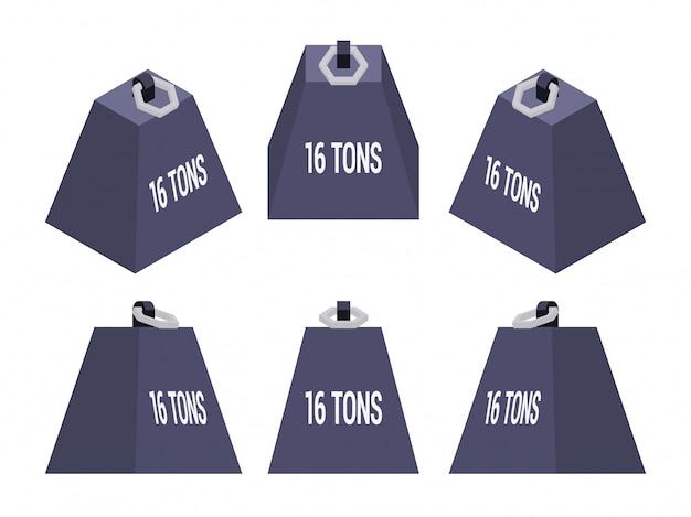 Set van de isometrische gewichten