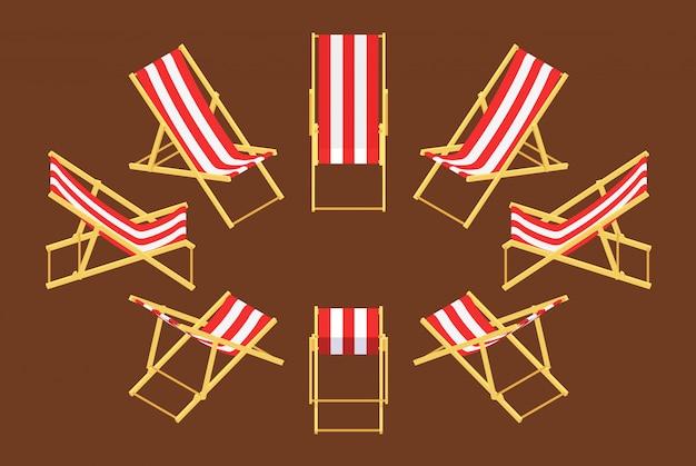 Set van de isometrische ligstoelen
