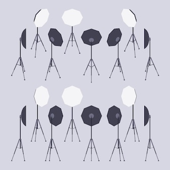 Set van de isometrische softboxen