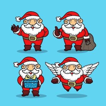 Set van de kerstman.
