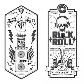 Set van de muziek flyers