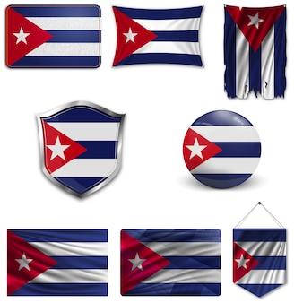 Set van de nationale vlag van cuba