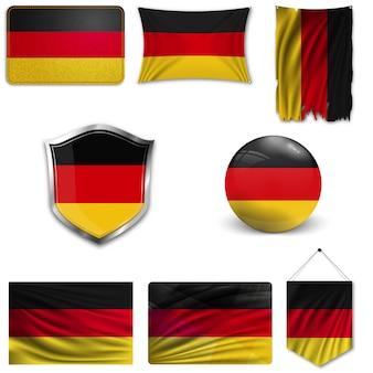 Set van de nationale vlag van duitsland