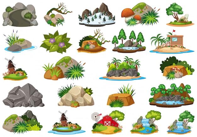 Set van de natuur voor decoratie
