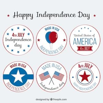 Set van de onafhankelijkheid leuke dag labels