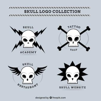 Set van de schedel logo