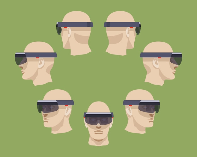 Set van de virtual reality-headsets