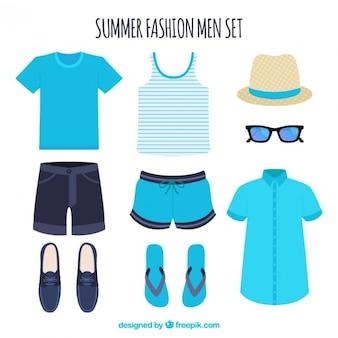 Set van de zomer kleren voor de mens