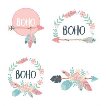 Set van decoraties boho-stijl