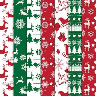 Set van decoratieve chrismas patrooncollectie
