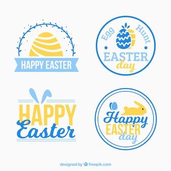 Set van decoratieve easter dag stickers
