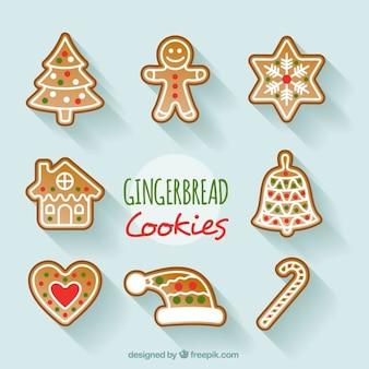 Set van decoratieve kerst cookies